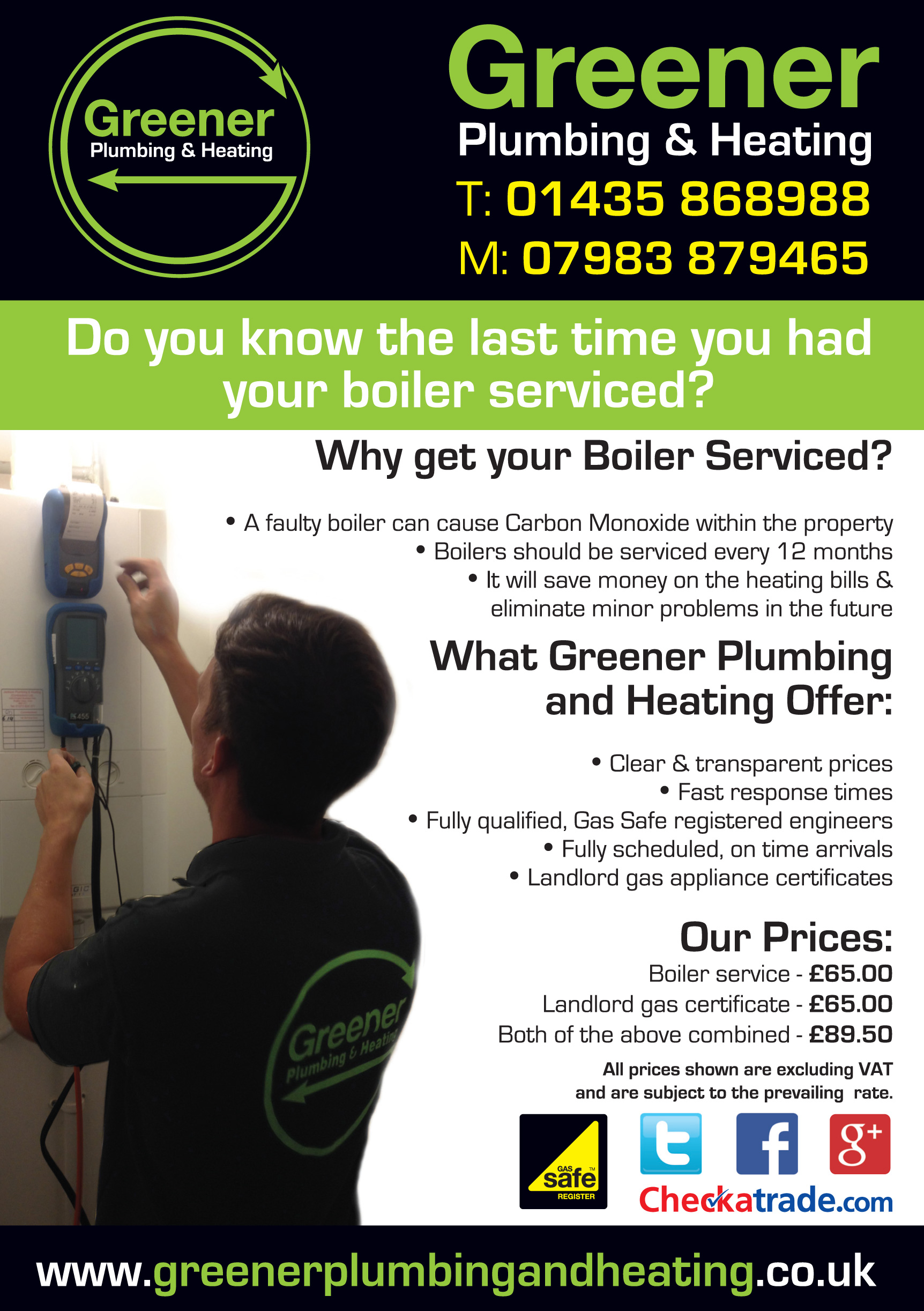 New Clients in Uckfield for Boiler Servicing - Greener ...